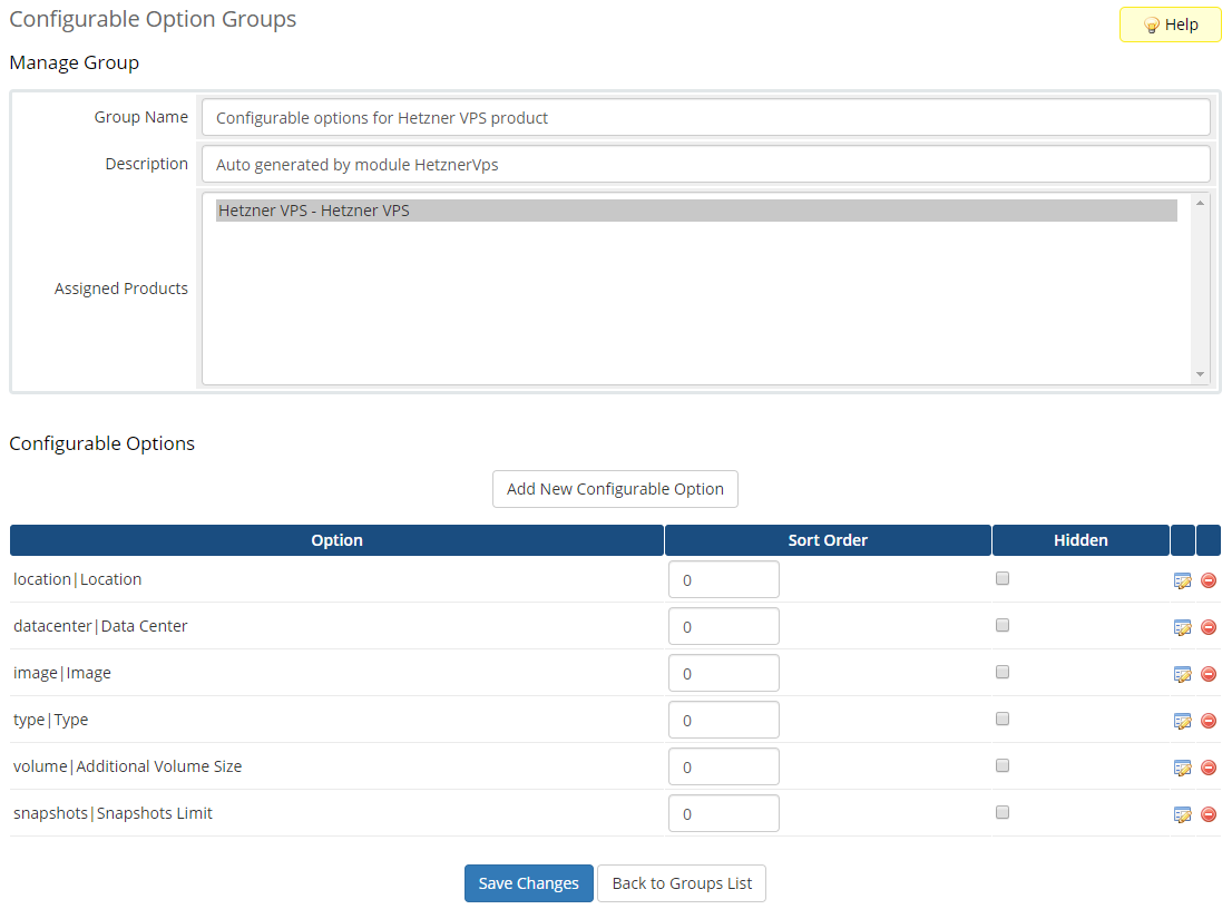 Hetzner VPS For WHMCS: Module Screenshot 10