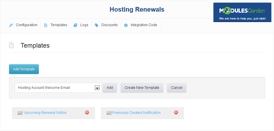Hosting Renewals For WHMCS: Screen 5