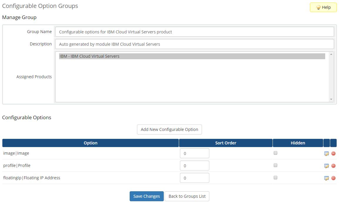IBM Cloud Virtual Servers For WHMCS: Module Screenshot 6