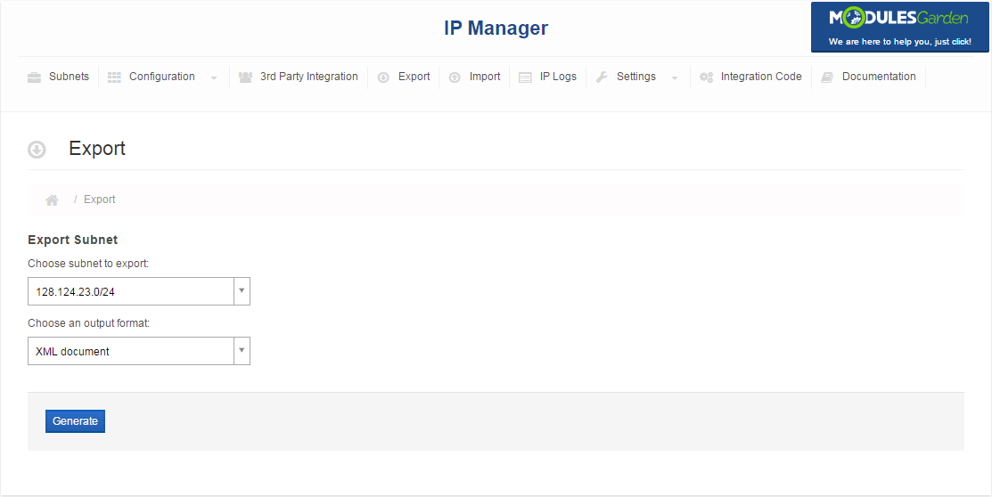 IP Manager For WHMCS: Screen 13