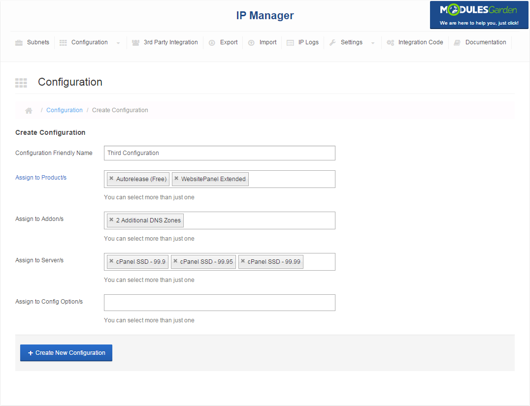 IP Manager For WHMCS: Screen 9