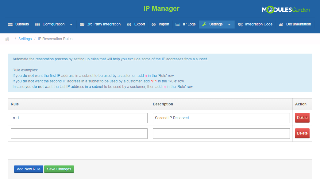 IP Manager For WHMCS: Screen 17