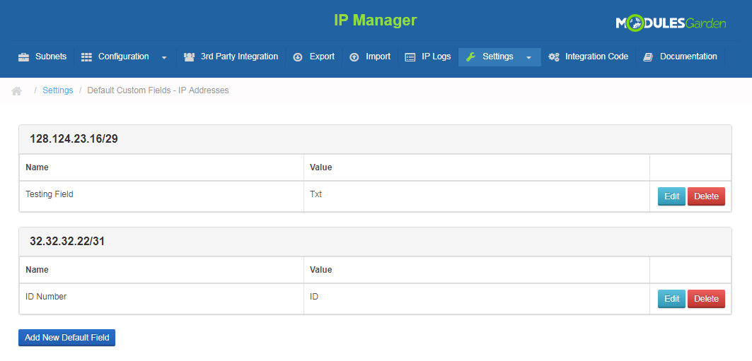 IP Manager For WHMCS: Screen 21