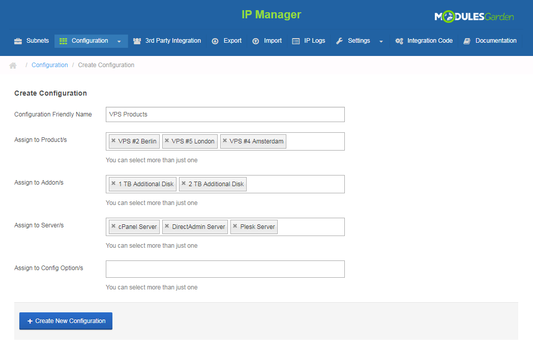 IP Manager For WHMCS: Screen 11