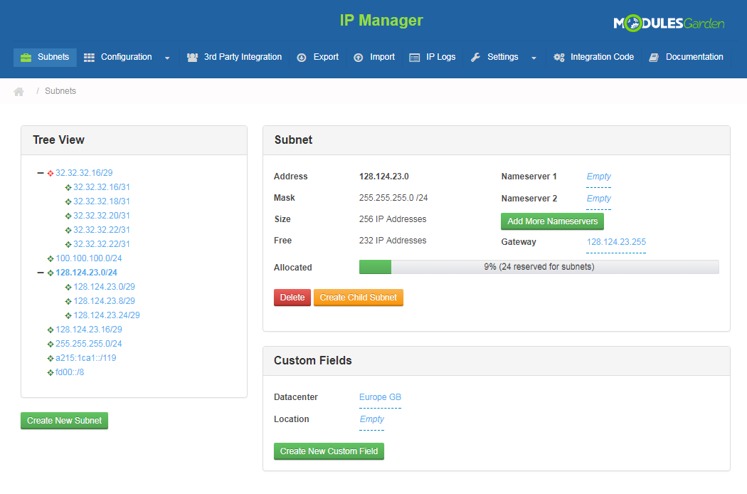 IP Manager For WHMCS: Screen 6