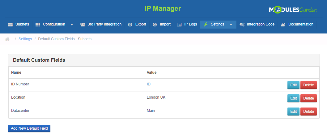 IP Manager For WHMCS: Screen 20
