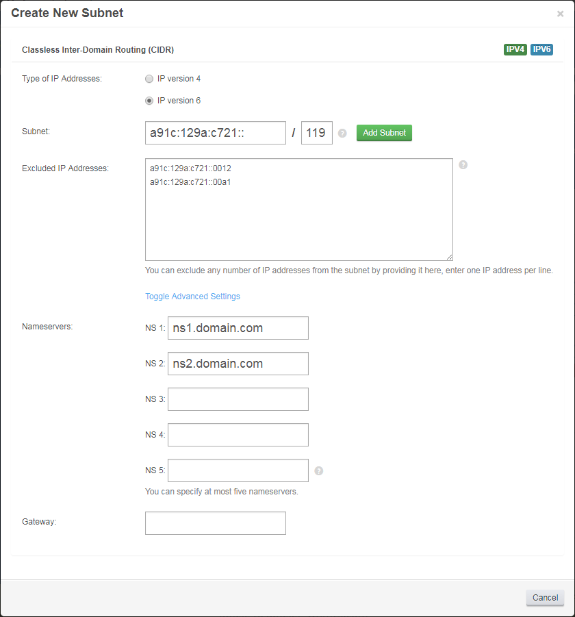 IP Manager For WHMCS: Screen 2