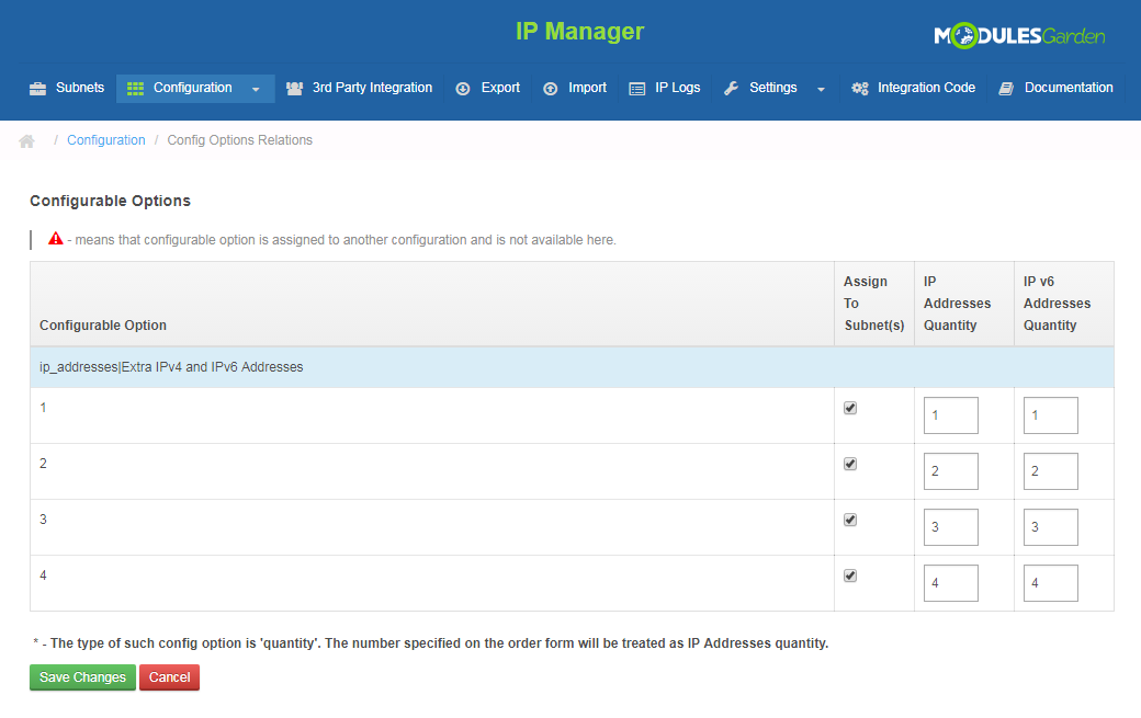 IP Manager For WHMCS: Screen 12