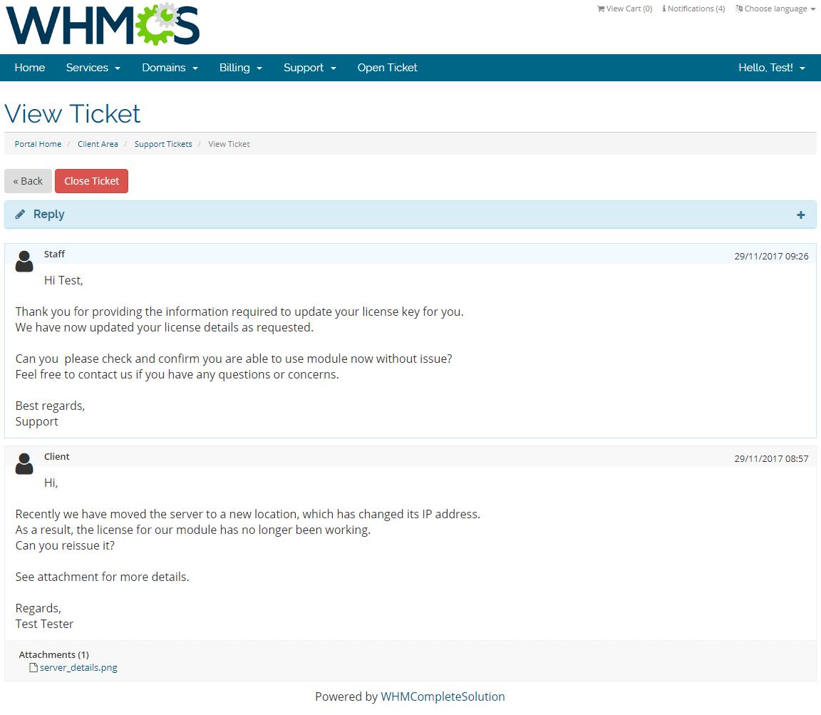 Kayako For WHMCS: Screen 4