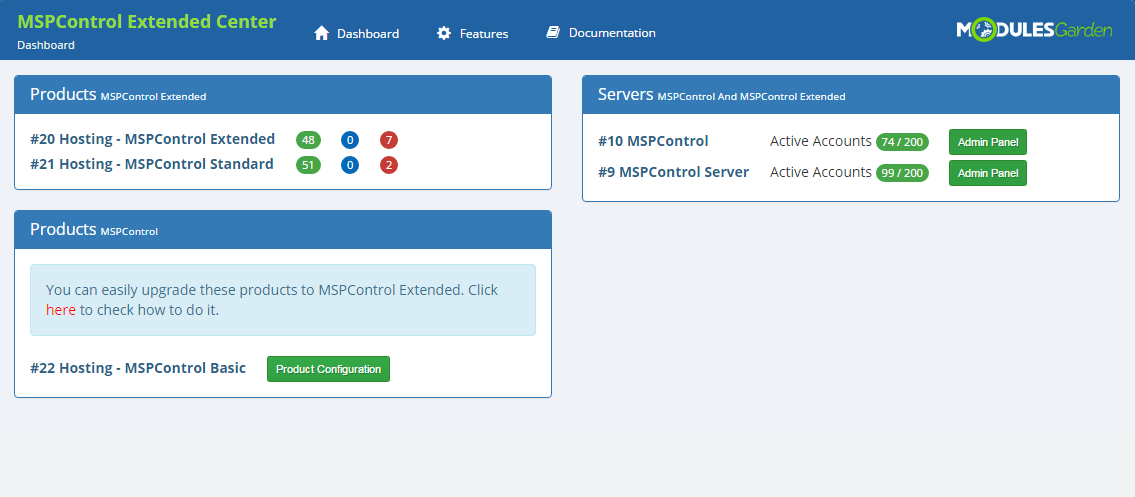 MSPControl Extended For WHMCS: Screen 9