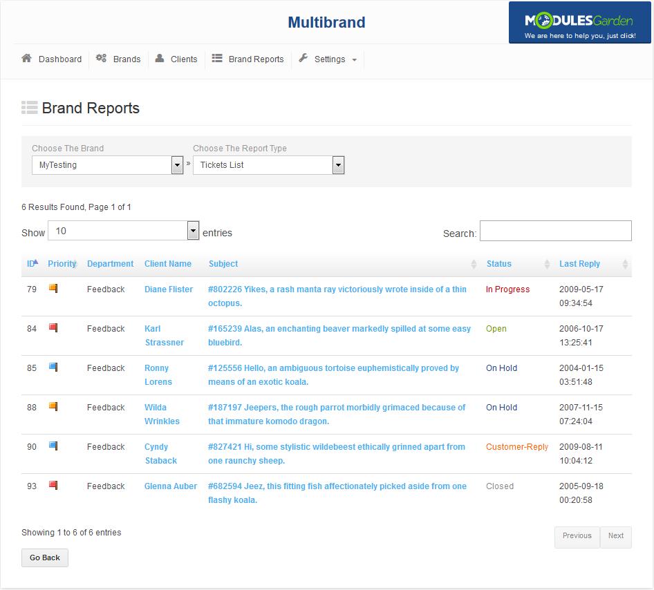 Multibrand For WHMCS: Screen 10