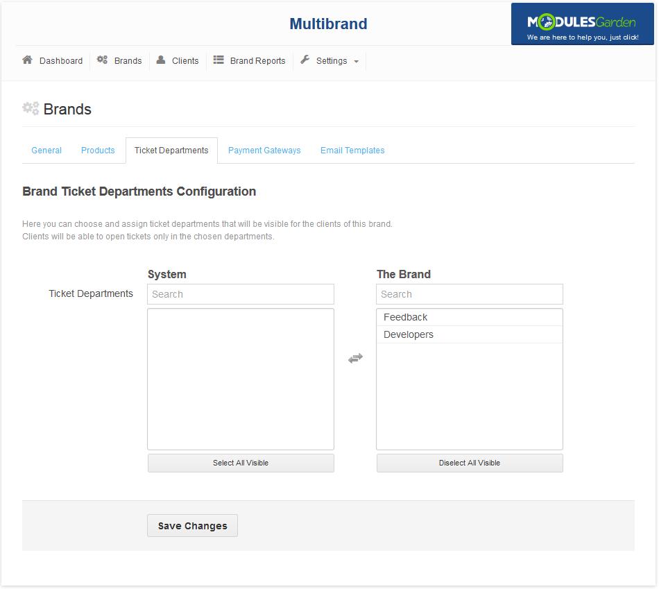 Multibrand For WHMCS: Screen 5