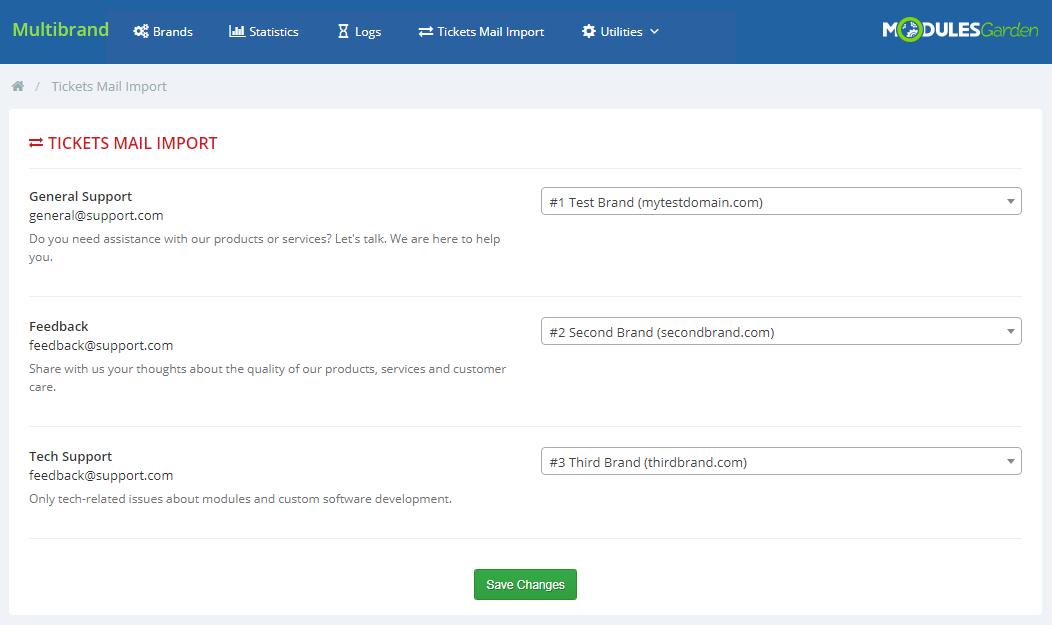 Multibrand For WHMCS: Module Screenshot 23