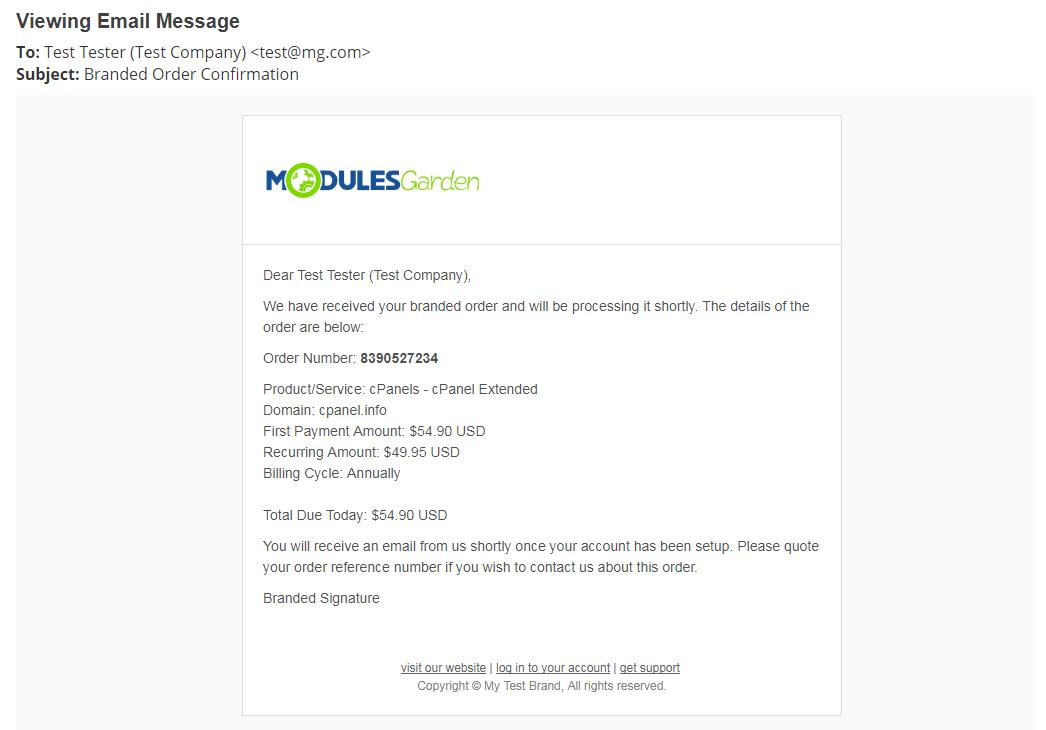 Multibrand For WHMCS: Module Screenshot 29