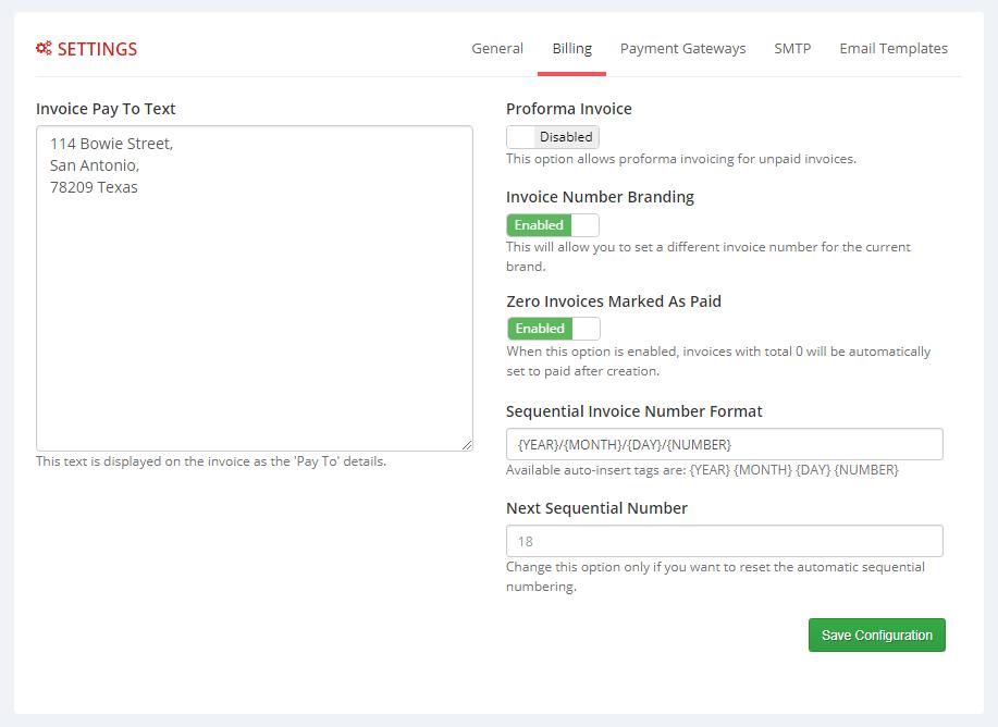 Multibrand For WHMCS: Module Screenshot 3