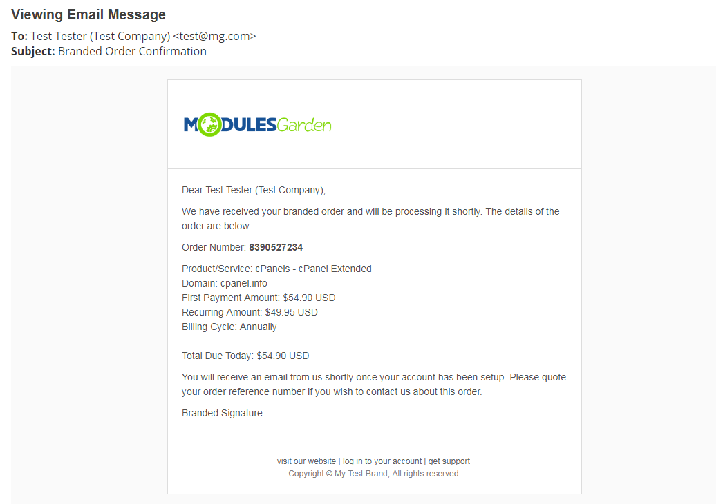Multibrand For WHMCS: Module Screenshot 32