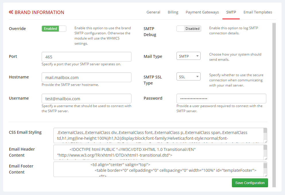 Multibrand For WHMCS: Module Screenshot 5