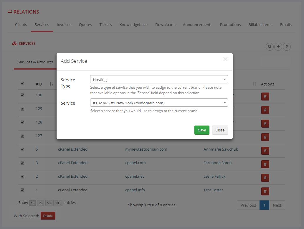 Multibrand For WHMCS: Module Screenshot 12