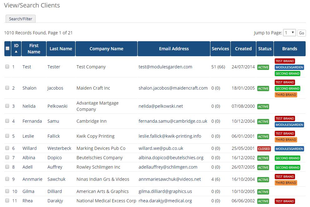 Multibrand For WHMCS: Module Screenshot 26