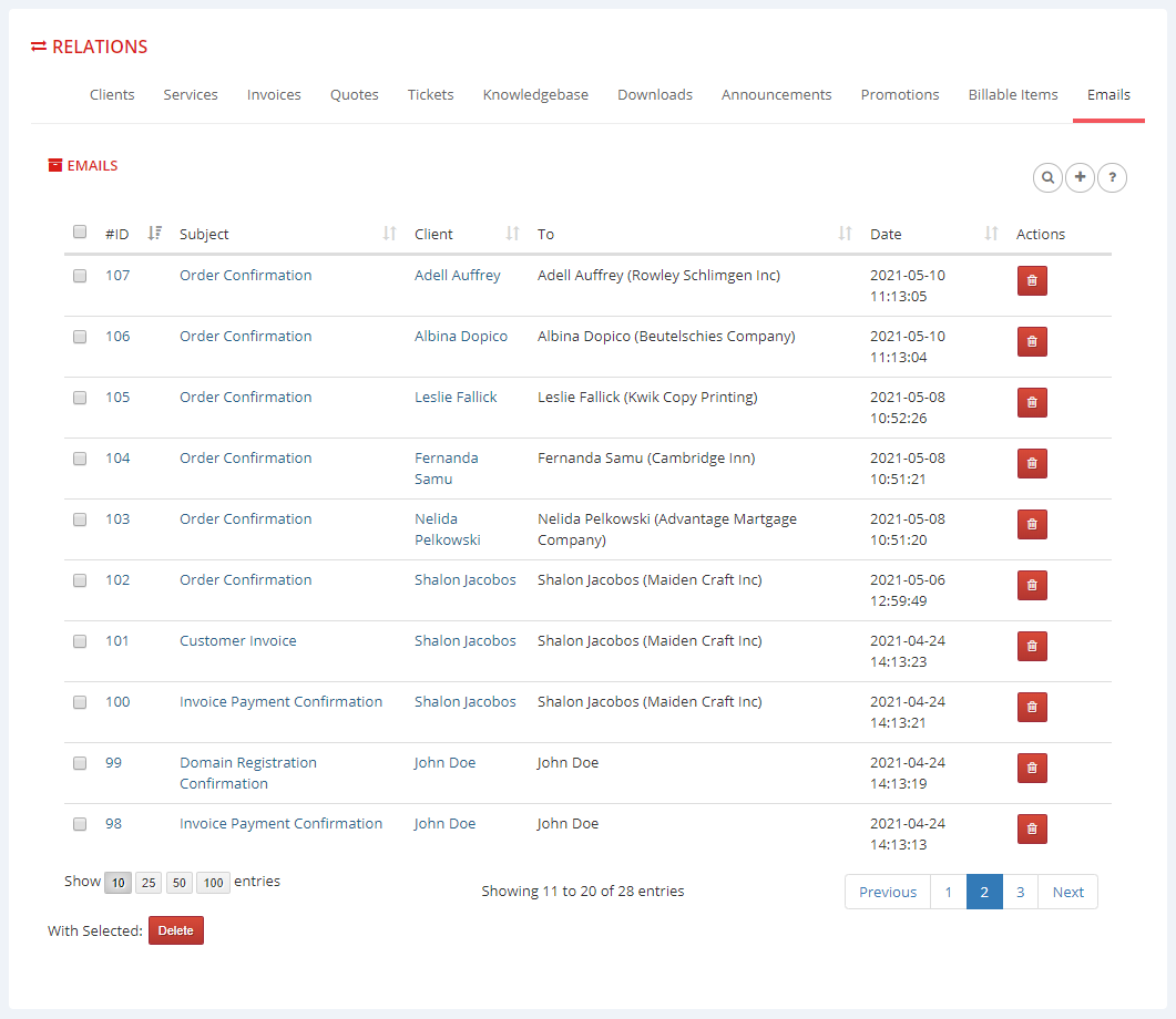 Multibrand For WHMCS: Module Screenshot 21
