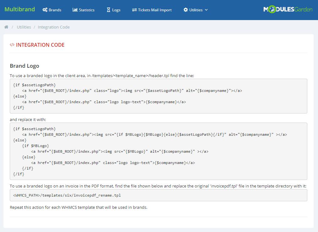 Multibrand For WHMCS: Module Screenshot 25