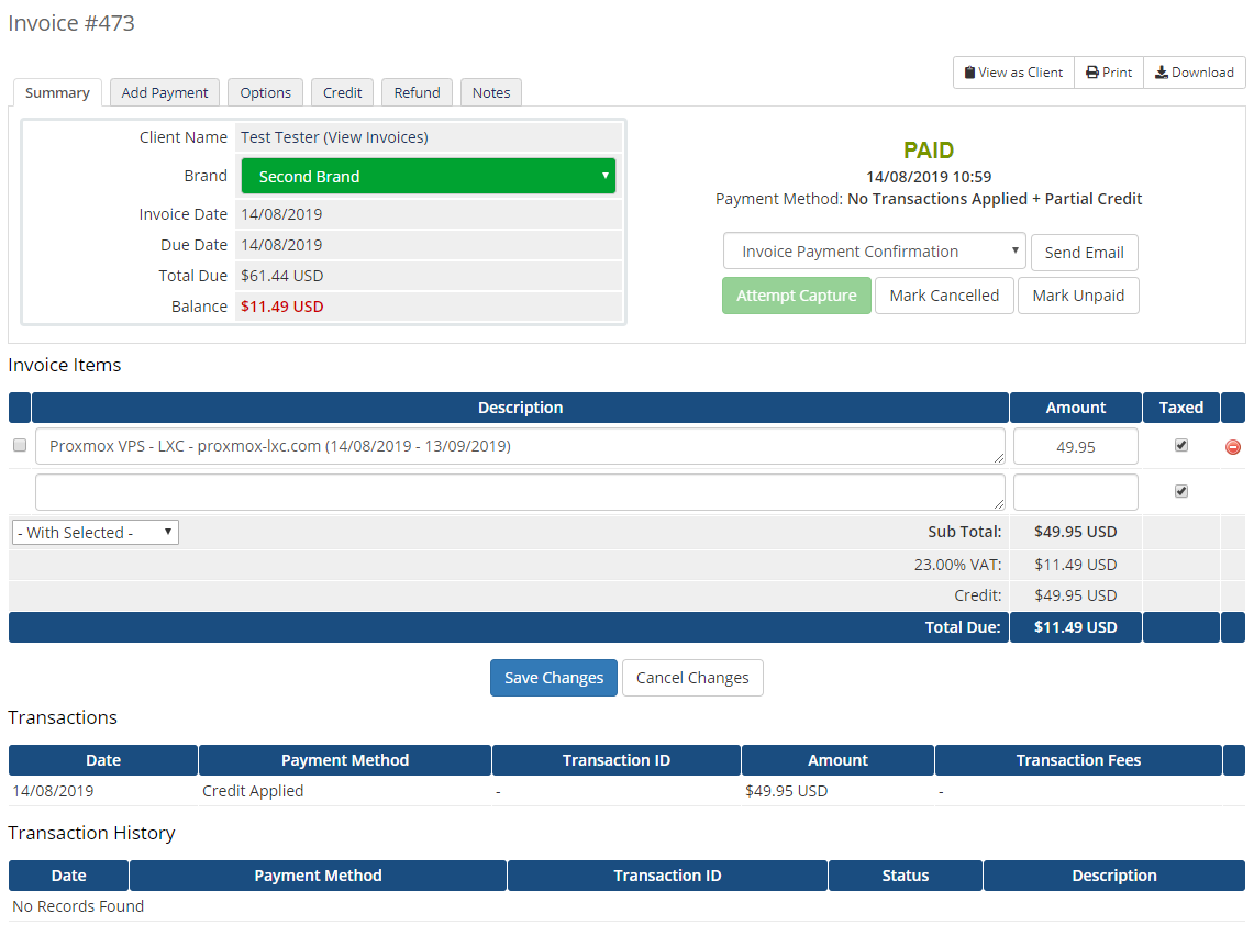 Multibrand For WHMCS: Module Screenshot 28