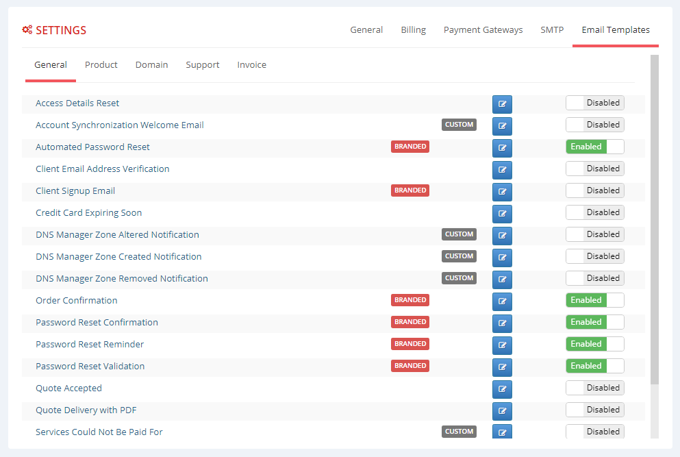 Multibrand For WHMCS: Module Screenshot 6