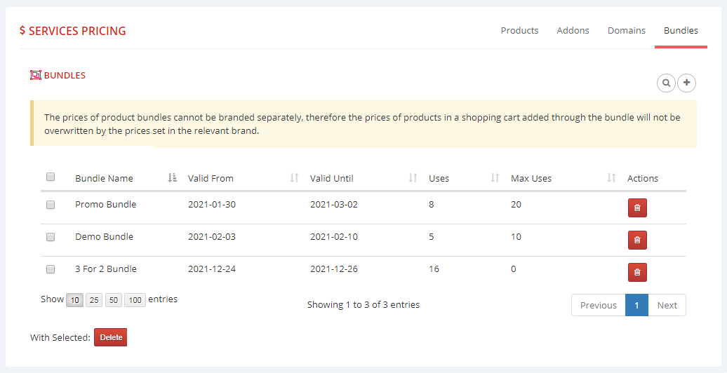 Multibrand For WHMCS: Module Screenshot 10
