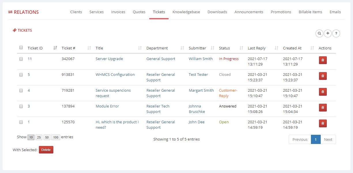 Multibrand For WHMCS: Module Screenshot 15