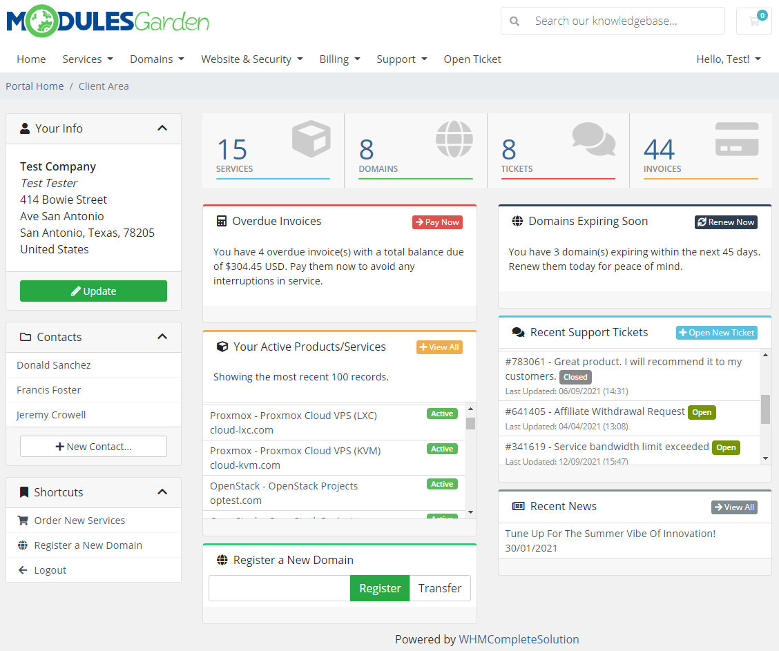 Multibrand For WHMCS: Module Screenshot 30