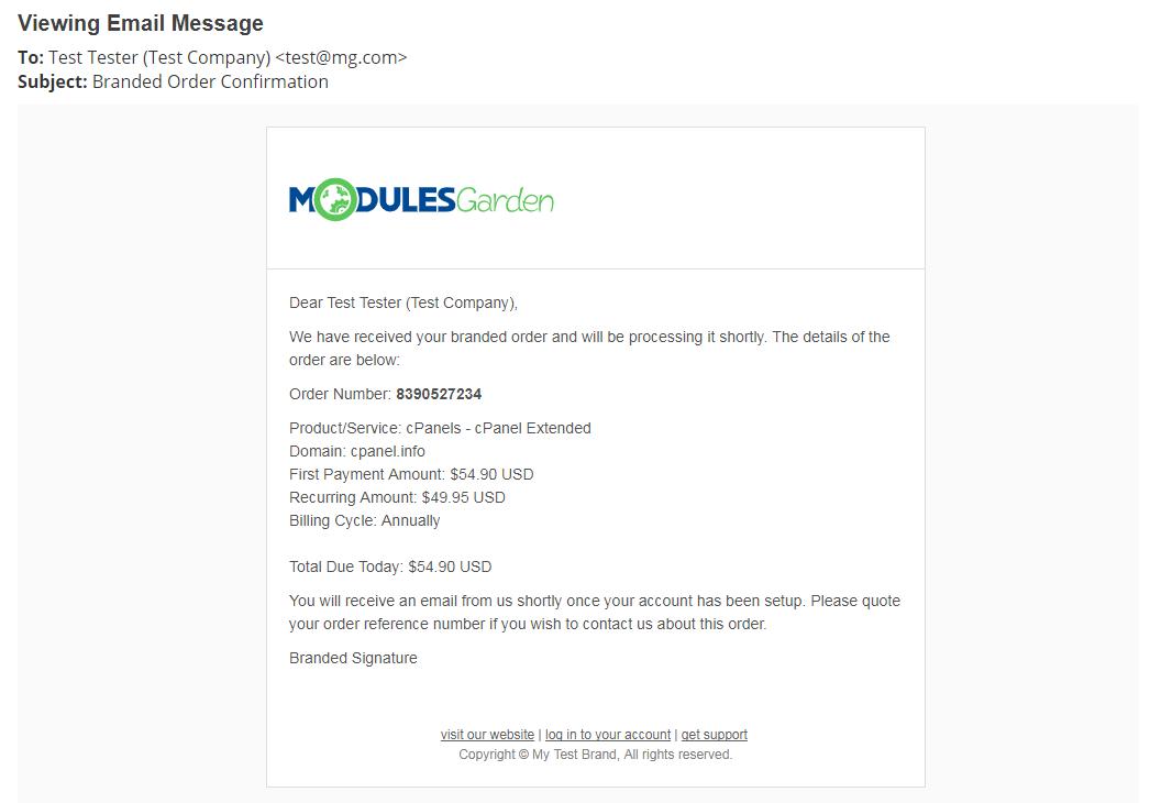 Multibrand For WHMCS: Module Screenshot 33