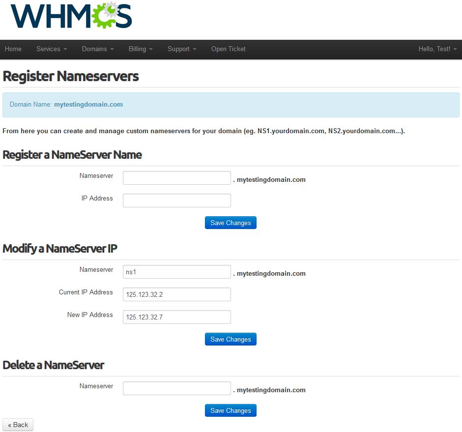 Name.com Registrar For WHMCS: Screen 7