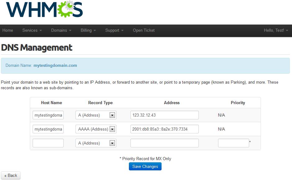 Name.com Registrar For WHMCS: Screen 8