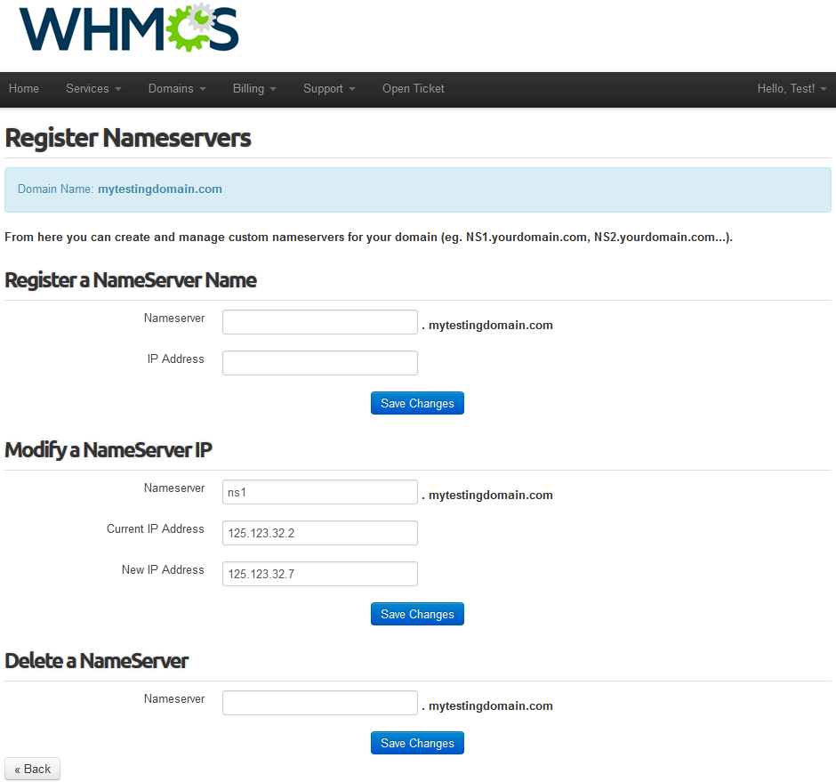 Name.com Registrar For WHMCS: Screen 7