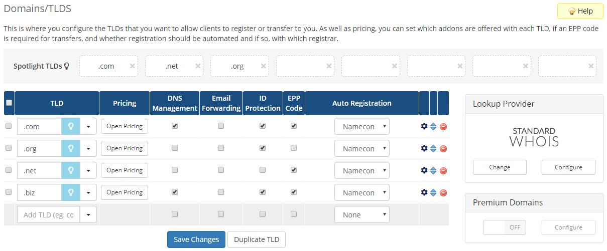 Name.com Registrar For WHMCS: Module Screenshot 2