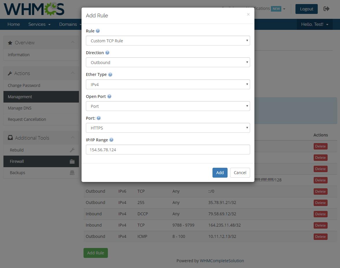 OpenStack VPS & Cloud For WHMCS: Module Screenshot 5