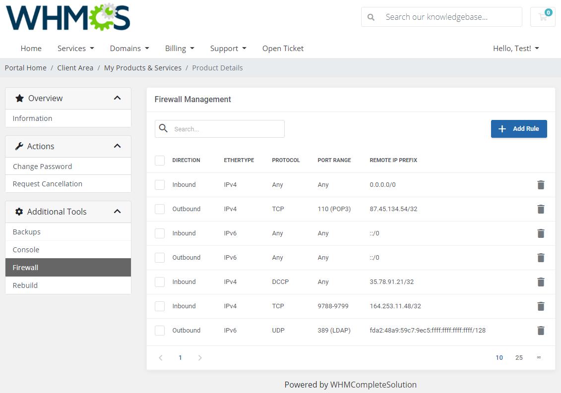 OpenStack VPS & Cloud For WHMCS: Module Screenshot 4