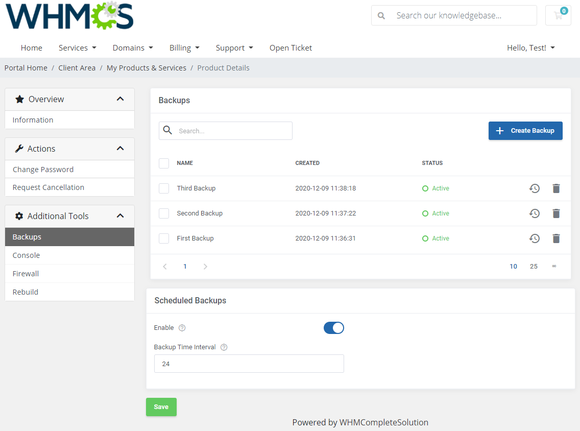OpenStack VPS & Cloud For WHMCS: Module Screenshot 2