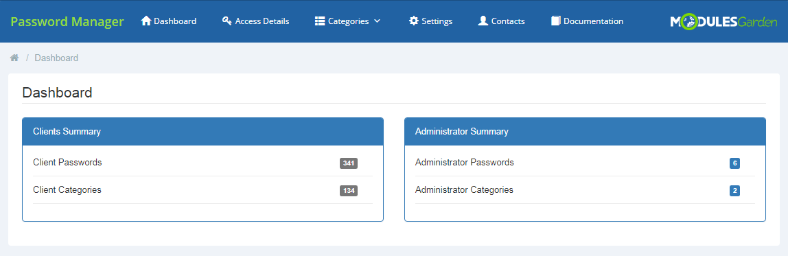 Password Manager For WHMCS: Screen 12