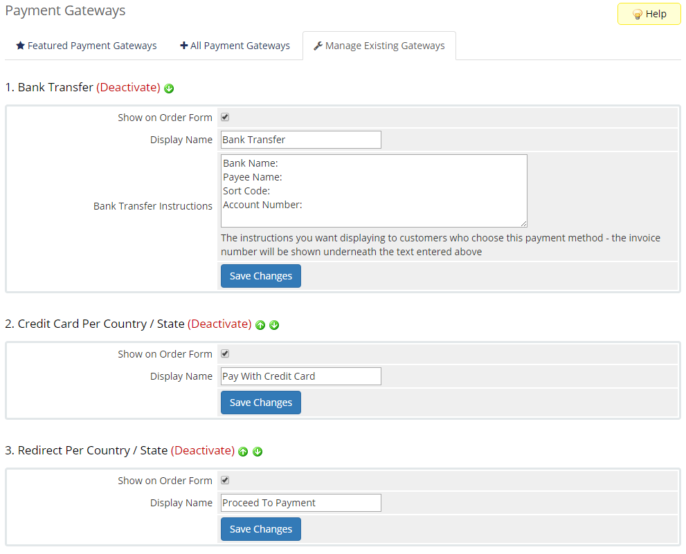 Payment Gateway Allocator For WHMCS: Screen 5