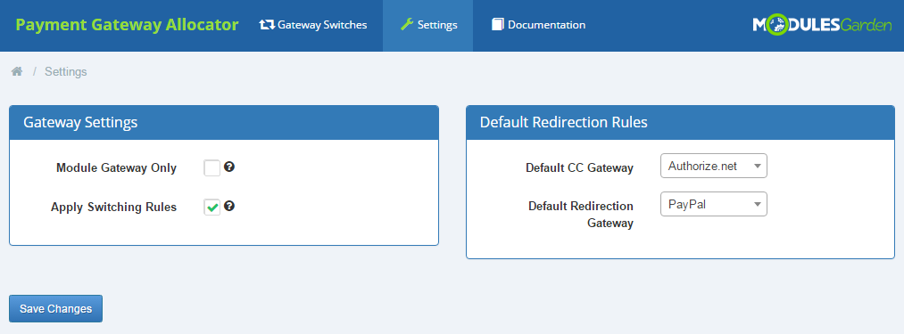 Payment Gateway Allocator For WHMCS: Screen 4