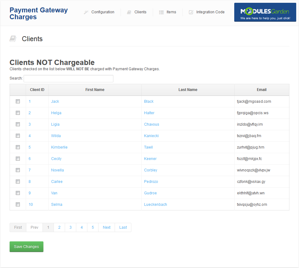 Payment Gateway Charges For WHMCS: Screen 3