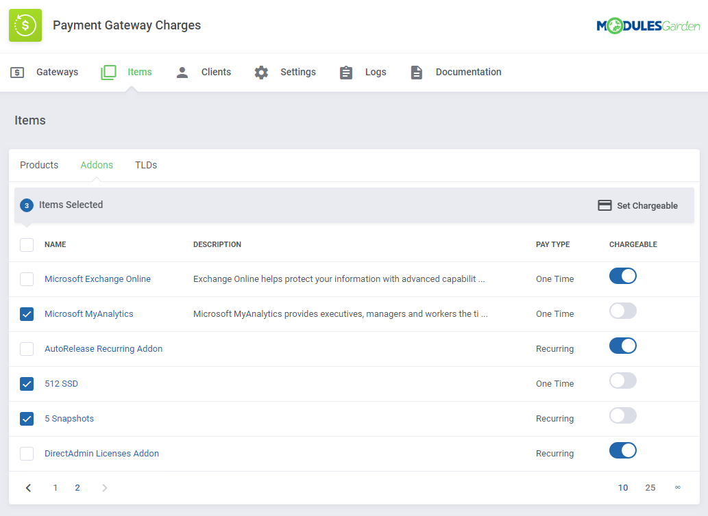 Payment Gateway Charges For WHMCS: Screen 12