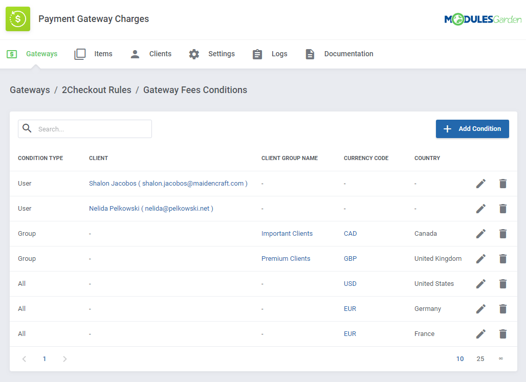 Payment Gateway Charges For WHMCS: Screen 9