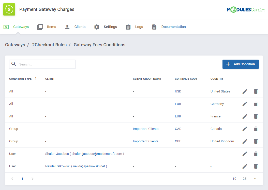 Payment Gateway Charges For WHMCS: Module Screenshot 10