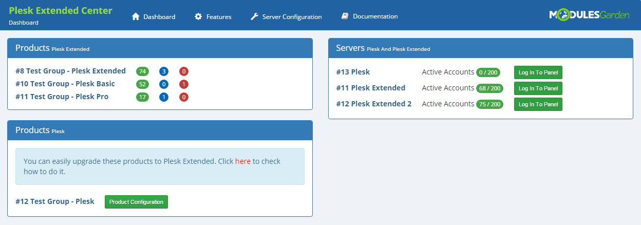 Plesk Extended For WHMCS: Screen 18