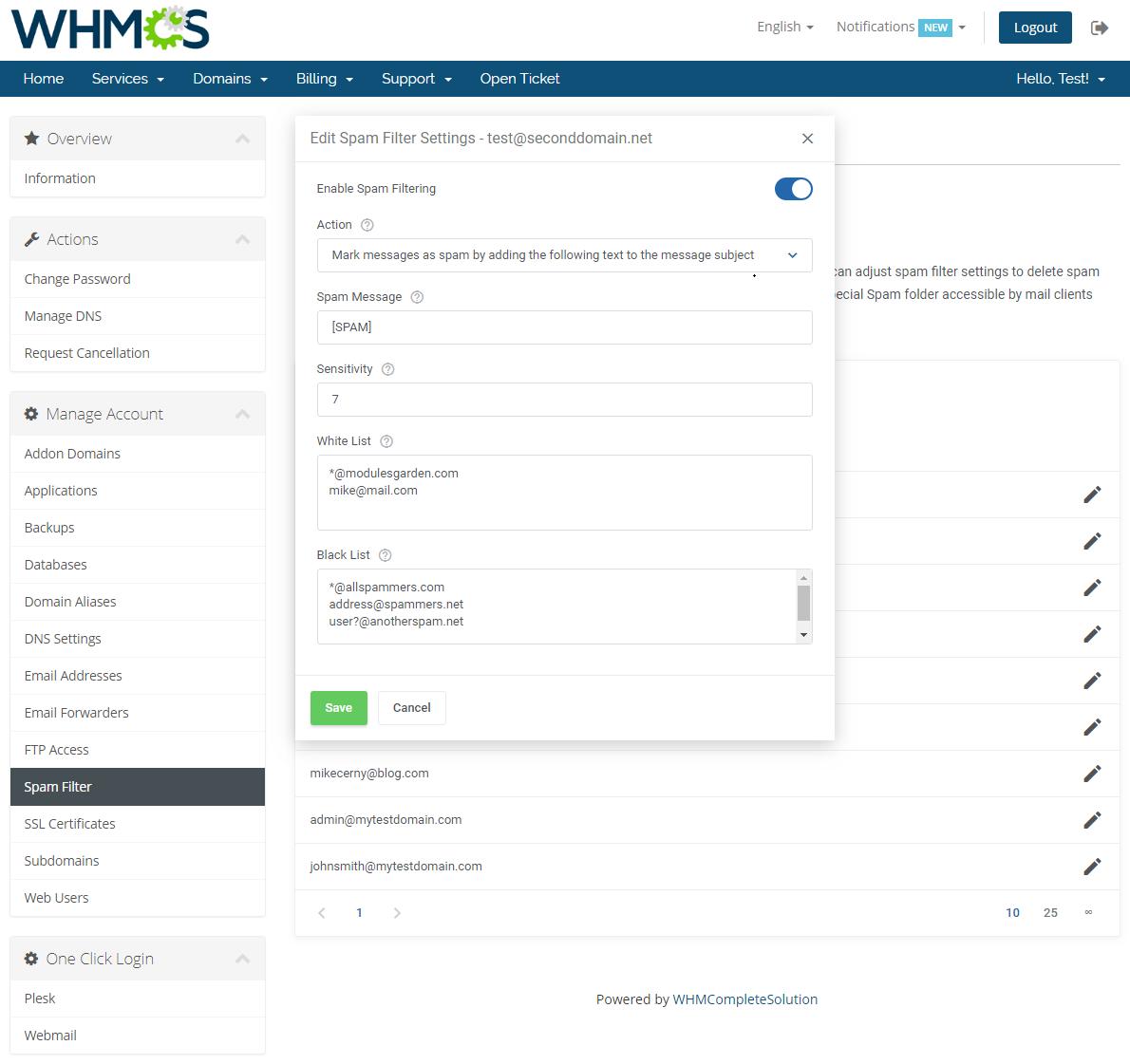 Plesk Extended For WHMCS: Screen 13