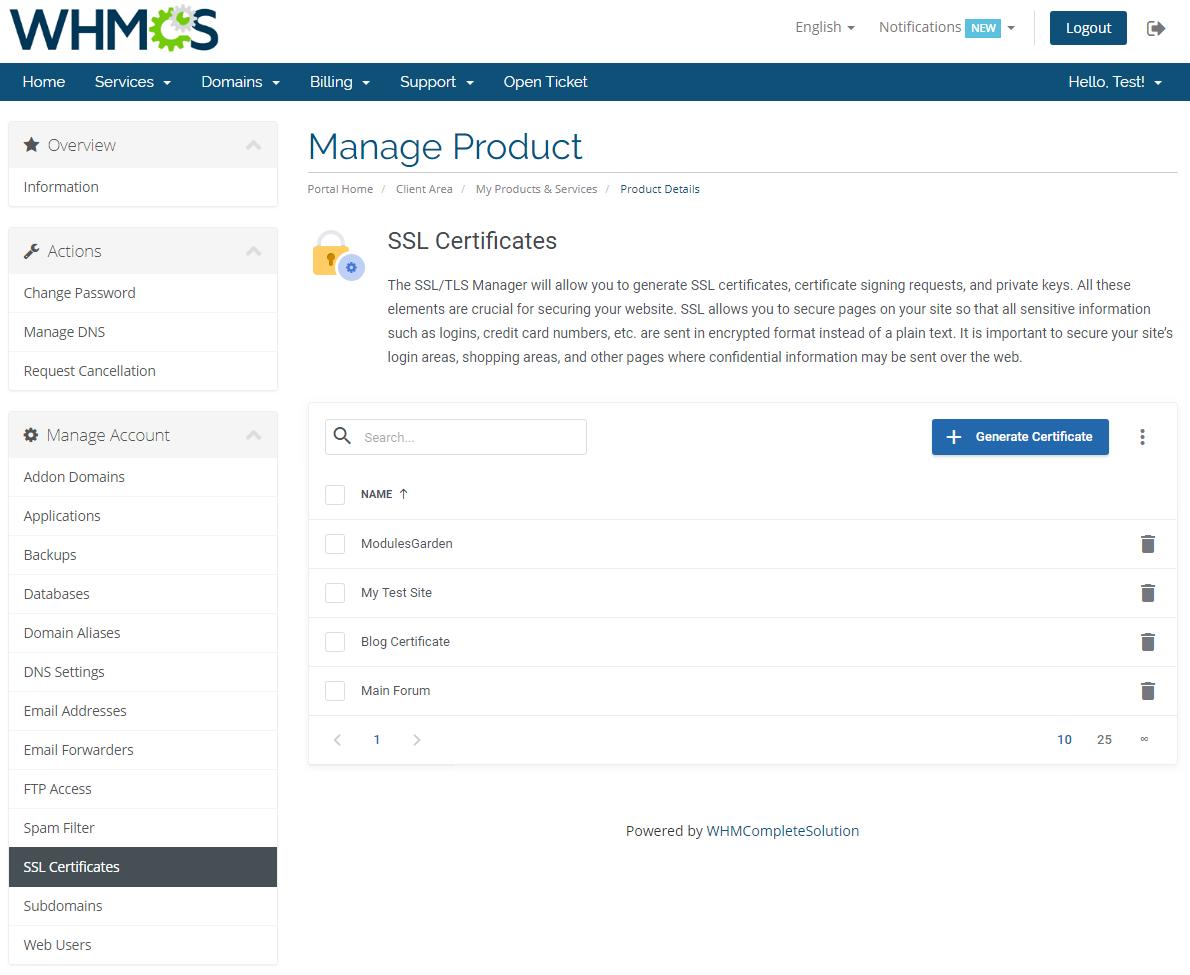 Plesk Extended For WHMCS: Module Screenshot 14