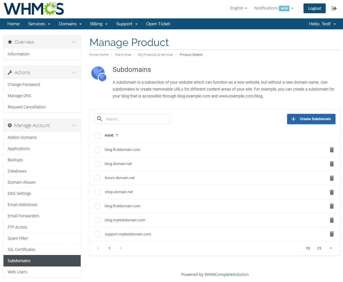 Plesk Extended For WHMCS: Module Screenshot 16