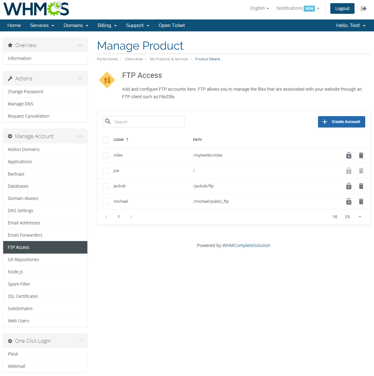 Plesk Extended For WHMCS: Module Screenshot 11